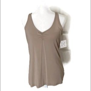 🆕 Relativity tan gathered front camisole